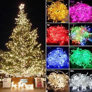 100-600LED String Fairy Lights Christmas Xmas Tree Party Garden Outdoor Decors
