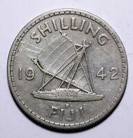 1942 Fiji One 1 Shilling - George VI - Lot 662