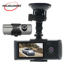 Car Dash Camera DVR With GPS 2.7 inch Rearview Mirror  Video Recorder Dual Lens