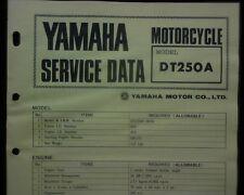 1973-74 Yamaha DT250 DT 250 A Service Data specification booklet Workshop manual