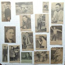 Walter Johnson  newspaper clippings (14 clipped photos) 1920's, 1930's, 1940's