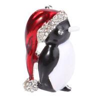 Unqiue Strass Weihnachten Pinguin Brosche Weihnachtsgeschenk de zONwl ogzlx