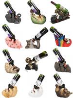 Guzzler Wine Bottle Holder Animals Dog Sword Fish T-Rex Wolf BNIB Nemesis Now
