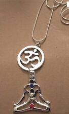 Chakra Stones Buddha Ohm Yoga Pendant Necklace - Tibetan Buddhist Healing
