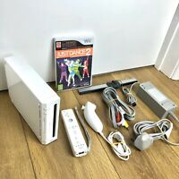 Nintendo Wii Games Console Bundle Job Lot -  With Just Dance Game