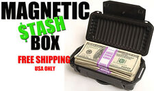 Magnetic Car Safe Stash Box Home Security - Flat Black - FREE Prioirty Shipping