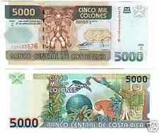 Costa Rica 5000 Colones  27.9.2004