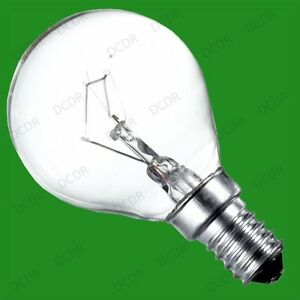 10x 40W Clear Dimmable Incandescent Standard Round Golf Light Bulb SES E14 Lamps