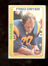 1978 Topps FRED DRYER Los Angeles Rams Card