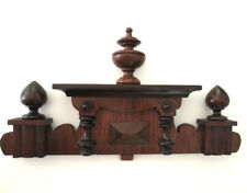 Antique Architectural Salvage Wooden PEDIMENT, Mahogany Capitol Crown Piece