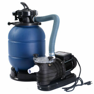 "New Pro 2450GPH 13"" Sand Filter Above Ground 10000GAL Swimming Pool Pump"