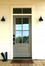 4 LITE COTTAGE STYLE FIBERGLASS ENTRY DOOR WITH TRANSOM