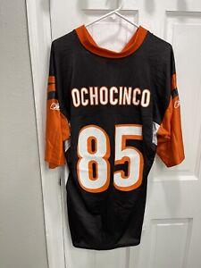 REEBOK CHAD JOHNSON 'Ochocinco' CINCINNATI BENGALS FOOTBALL JERSEY MEN'S LARGE