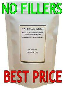 Valerian Root Extract 4200mg per Cap-Veg Capsules-NO FILLERS - 30-360 capsules