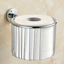 Modern Chrome Wall mount Roll Toilet Paper Holder Bathroom Tissue Holder Basket