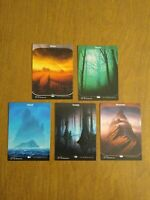 Mtg magic the gathering Unstable Complete Set 5 Full Art Lands Lot
