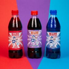 Slush Puppie 3 pack of Syrups, Blue Raspberry, Red Cherry and Purple Grape