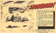Lima Ohio Motor Service Inc Snow Scene Comic Antique Postcard K80187