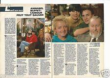 Coupure de presse Clipping 1986 Annabel & Bernard Buffet  (2 pages)