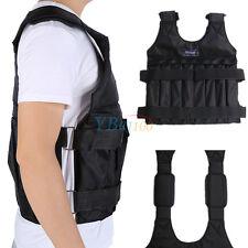 Adjustable Max Load 20kg Weighted Vest / Jacket Exercise Training Waistcoat New