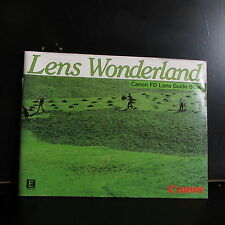 Canon Lens World Photo Guide Book 1982 45 pages english language