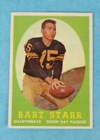 1958 TOPPS #66 BART STAR GREEN BAY PACKERS FOOTBALL TRADING CARD