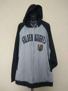 New Las Vegas Golden Knights Mens Size 5XL Gray G-III Full Zip Jacket