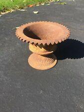 Rare Shaped Antique Cast Iron Planter Urn