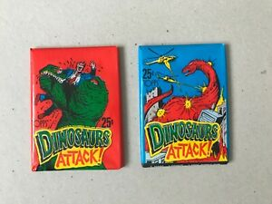 """1988 Topps """"Dinosaurs Attack!"""" Trading Cards lot 2 pack Vintage lot#2"""