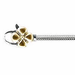 Genuine Lovelinks Gold Flower Clasp Bracelet 21cm - 1110244-21k  RRP £189.00!