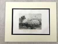 1854 Antique Engraving Print Deeg Palace Shrine India Rajasthan Temple