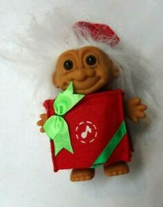 """Vintage Russ 4.5""""  Vinyl Christmas Merry Little Musical Gift Troll* Hard to Find"""