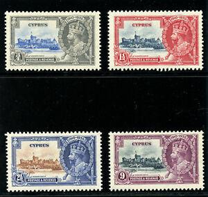 Cyprus 1935 KGV Silver Jubilee set complete superb MNH. SG 144-147. Sc 136-139.