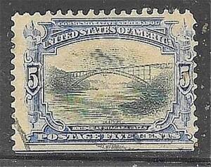 1v0192 Scott 297 US Stamp 1901 5c Bridge at Niagara Falls Used