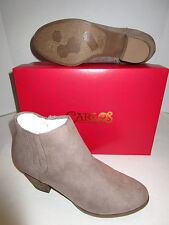 Nib Womens Carlos Santana Hazel Taupe Faux Suede Ankle Boots Booties 9.5