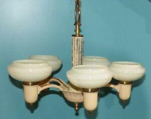 Antique Art Deco 5 Light Chandelier Ceiling Light