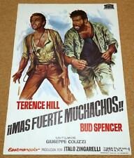 ALL THE WAYS BOYS Original Movie Poster TERENCE HILL BUD SPENCER CARLOS MUNOZ