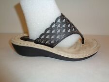 Cobbie Cuddlers Size 7 Wide ALLEGRA Black Rhinestone Sandals New Womens Shoes