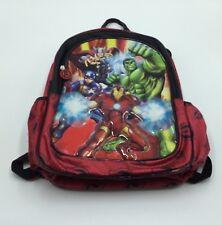 """Marvel Avengers 15"""" Inch Boys School Red Backpack Bag"""