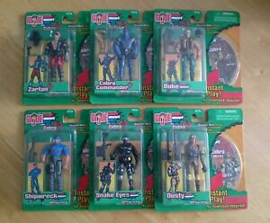 G.I. Joe vs. Cobra: Spytroops - Set of 6 Figures & CD-ROM's 2003 - New & Sealed