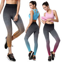 Women YOGA Running Sport Stretch Pants Gym Fitness Workout Leggings Trousers*