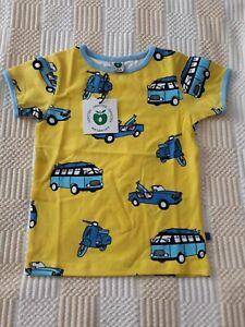 NEW Smafolk T Shirt Years 3-4 Size 98-104 cm. Vehicles Yellow