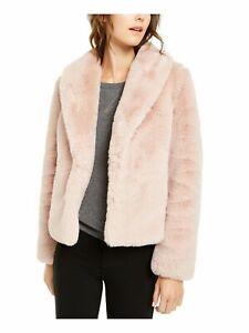 INC Womens Pink Faux Fur Coat Size: M