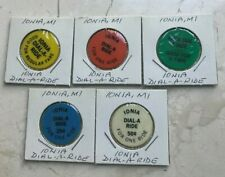Ionia Michigan MI Dial A Ride Set of 5 Transportation Tokens