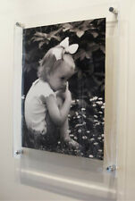 "Acrylic 10mm floating 16x24"" / A2 / 40x60cm poster picture photo frame perspex"