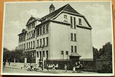 AK 1930: Duisburg Waldschule handschriftlich