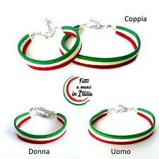 bracciale mondiali calcio italia braccialetto cordino tricolore forza nazionale
