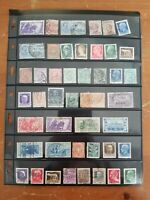 Italy & Colonies Stamp Collection - Mostly Used - 4 Scans - Some Classics - Q22