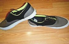 ADIO BROWN/BLACK MENS CANVAS LOW SNEAKER SHOES SIZE 9