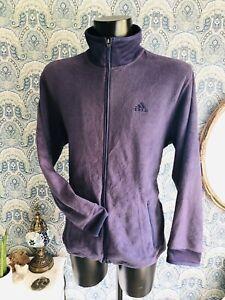 Men's Vtg 1990s Blue Adidas Fleece Full Zip Top Jacket Medium 40 42